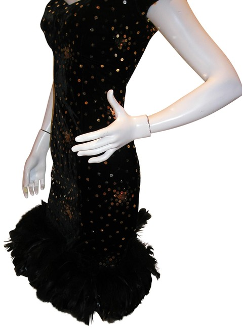 Just Female Feathers Sequin Sequin Vintage Dress Image 3