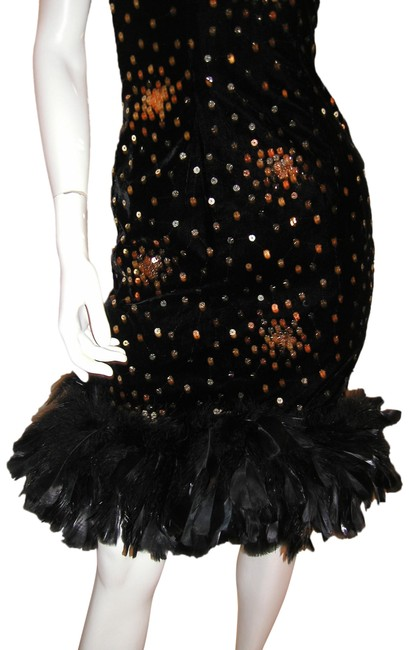 Just Female Feathers Sequin Sequin Vintage Dress Image 5