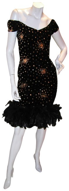Just Female Feathers Sequin Sequin Vintage Dress Image 6