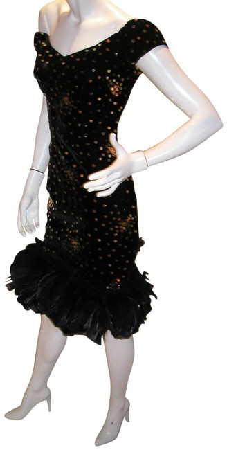 Just Female Feathers Sequin Sequin Vintage Dress Image 8