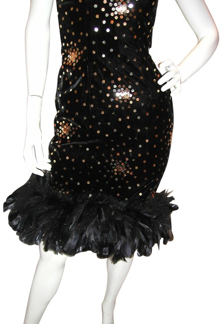 Just Female Feathers Sequin Sequin Vintage Dress Image 9