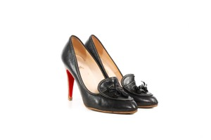 Christian Louboutin Leather Loafers Black Pumps