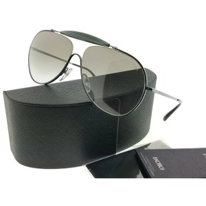 ffcb4d1b341 Prada PR56SS-7AX5O0 Aviator Men s Black Frame Grey Lens Genuine Sunglasses