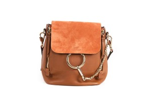 Chloé Faye Leather Suede Backpack