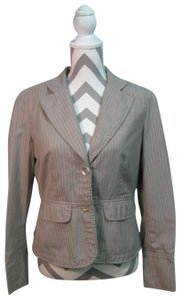 Signature by Larry Levine Pinstride Gray and Whtie Blazer