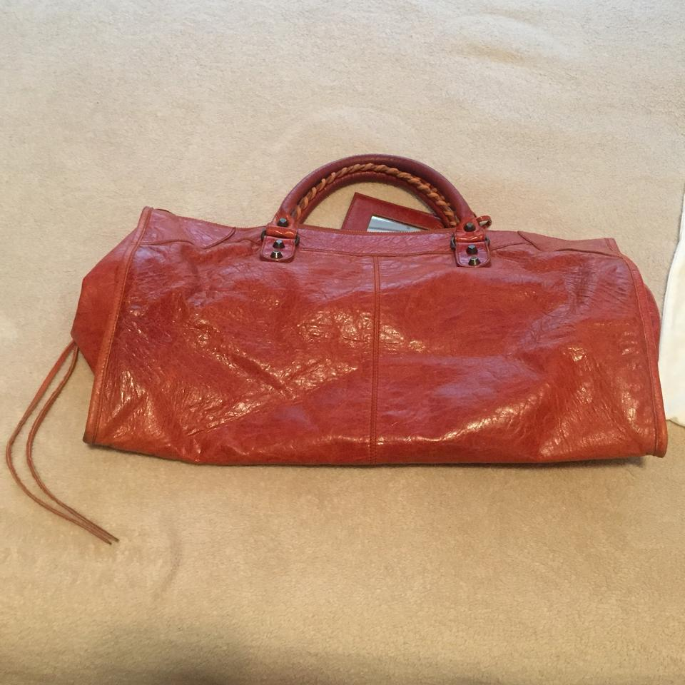 71239247b54 Balenciaga Work Satchel Hand Motorcycle Classic Hardware Rouille Rust  Leather Tote - Tradesy