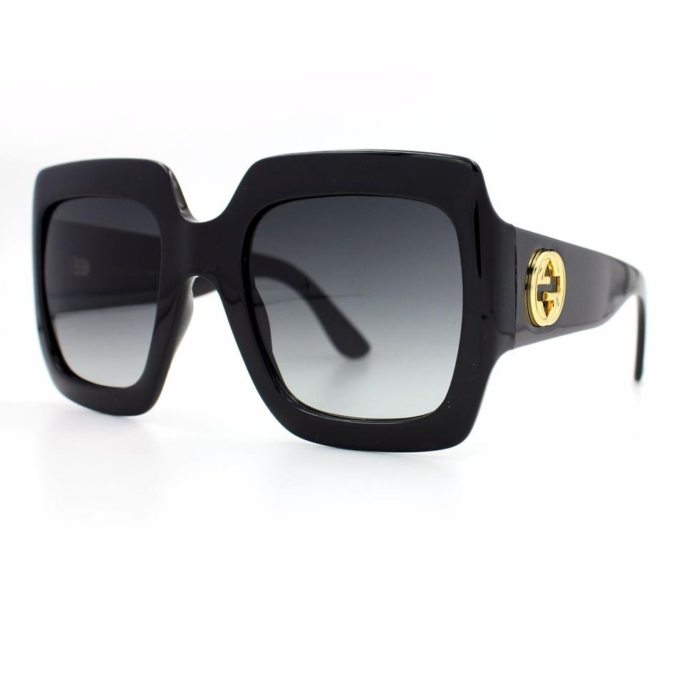 6389cfd8b03 Gucci GUCCI Square-Frame Optyl Suglassses with Dark Grey Lenses GG0053S 001  Image 0 ...