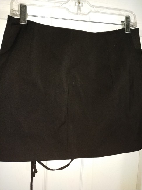 Anthony Vaccarello Mini Skirt Black Image 3