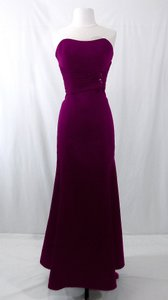 Alfred Angelo Grape Satin Style 7042 Formal Bridesmaid/Mob Dress Size 6 (S)