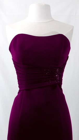 Alfred Angelo Grape Satin Style 7042 Formal Bridesmaid/Mob Dress Size 6 (S) Image 1