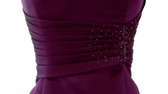 Alfred Angelo Grape Satin Style 7042 Formal Bridesmaid/Mob Dress Size 6 (S) Image 2