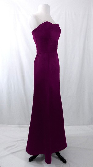 Alfred Angelo Grape Satin Style 7042 Formal Bridesmaid/Mob Dress Size 6 (S) Image 7