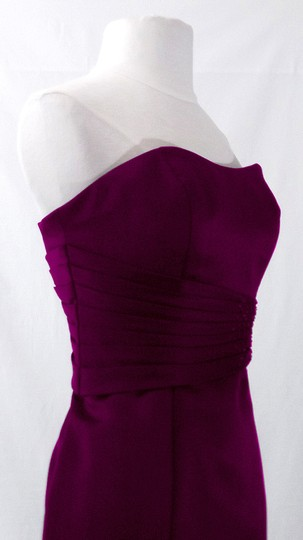 Alfred Angelo Grape Satin Style 7042 Formal Bridesmaid/Mob Dress Size 6 (S) Image 8