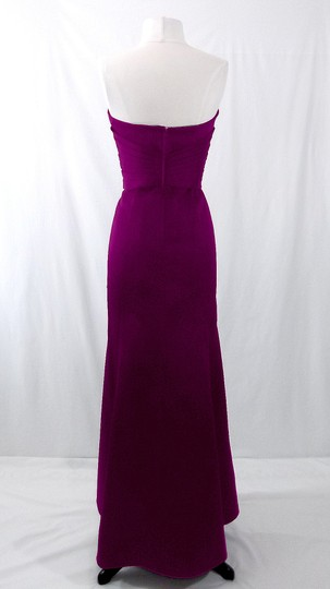 Alfred Angelo Grape Satin Style 7042 Formal Bridesmaid/Mob Dress Size 6 (S) Image 9