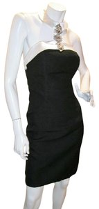 Just Female Egptian Halter Fitted Backless Jeweled Dress
