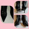Bally Black Long Leather Boots/Booties Size EU 37.5 (Approx. US 7.5) Narrow (Aa, N) Bally Black Long Leather Boots/Booties Size EU 37.5 (Approx. US 7.5) Narrow (Aa, N) Image 9