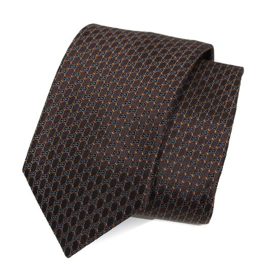 Preload https://img-static.tradesy.com/item/22758198/gucci-brown-349391-men-s-pungol-interlocking-g-woven-silk-tie-0-0-540-540.jpg