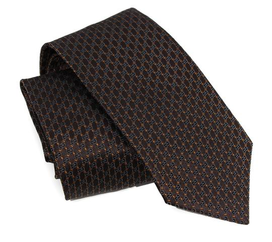 Gucci NEW GUCCI 349391 Men's Pungol Interlocking G Woven 100% Silk Tie Image 1