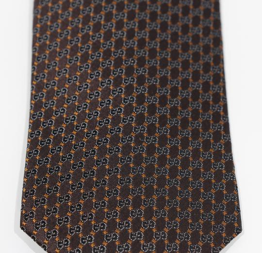 Gucci NEW GUCCI 349391 Men's Pungol Interlocking G Woven 100% Silk Tie Image 2