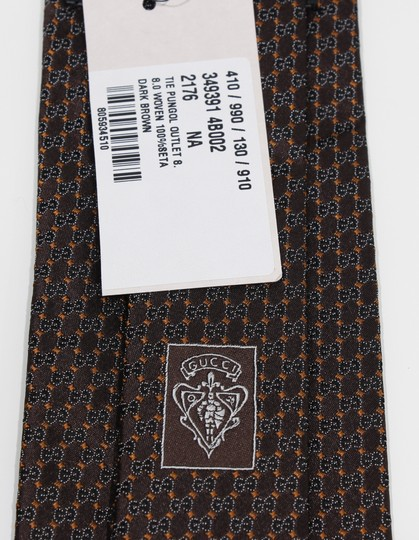 Gucci NEW GUCCI 349391 Men's Pungol Interlocking G Woven 100% Silk Tie Image 6