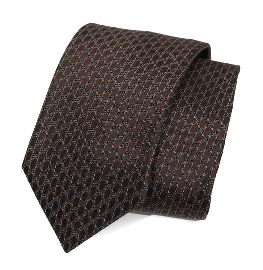 Gucci NEW GUCCI 349391 Men's Pungol Interlocking G Woven 100% Silk Tie Image 10