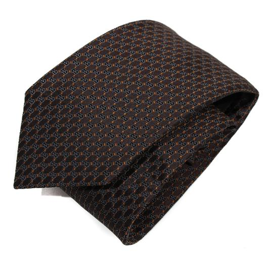 Gucci NEW GUCCI 349391 Men's Pungol Interlocking G Woven 100% Silk Tie Image 9