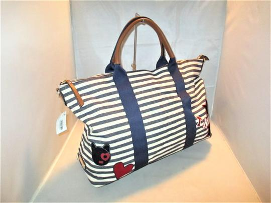 Tommy Hilfiger Next Day Shipping Navy / Natural Travel Bag Image 2