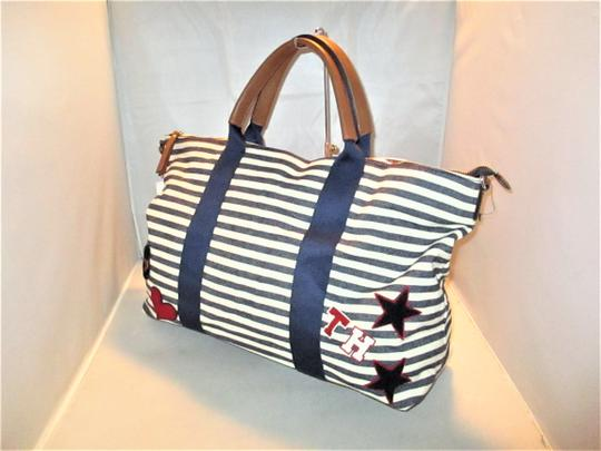 Tommy Hilfiger Next Day Shipping Navy / Natural Travel Bag Image 3
