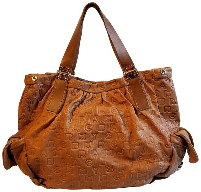 Marc by Marc Jacobs Embossed Tan Leather Tote Marc by Marc Jacobs Embossed Tan Leather Tote Image 1