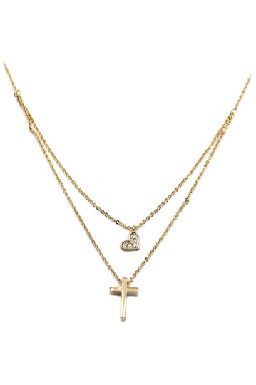Preload https://img-static.tradesy.com/item/22758356/gold-duplexes-small-crystal-cross-and-heart-necklace-0-0-540-540.jpg