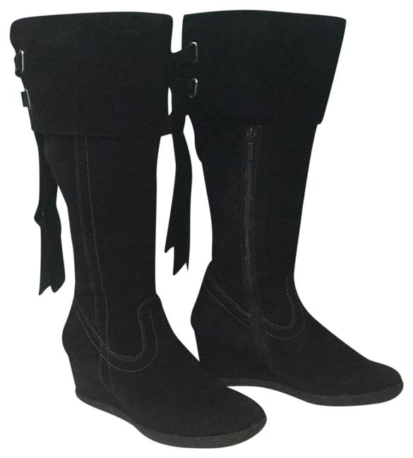 Geox Black Suede Boots/Booties Size US 6 Regular (M, B) Geox Black Suede Boots/Booties Size US 6 Regular (M, B) Image 1