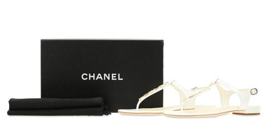 Chanel White Sandals Image 11