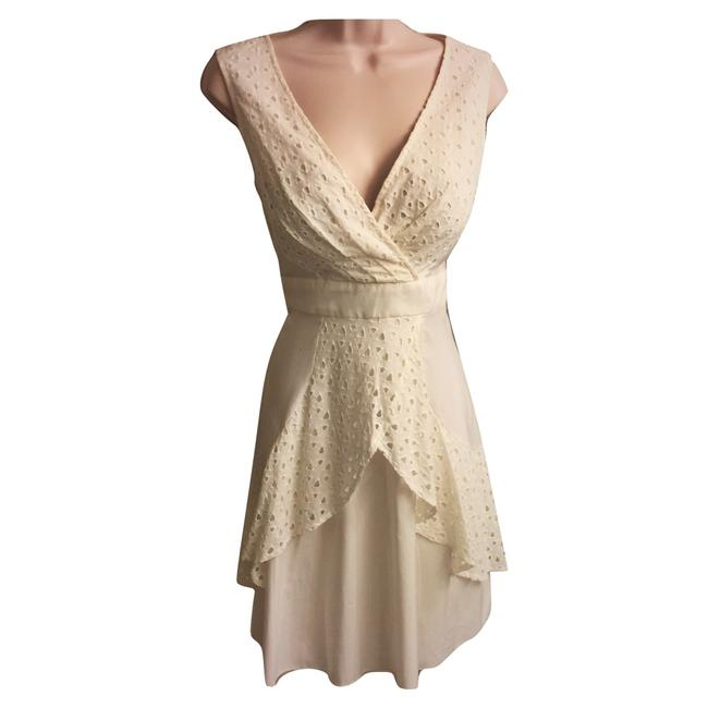 Max and Cleo Cream - Mid-length Cocktail Dress Size 6 (S) Max and Cleo Cream - Mid-length Cocktail Dress Size 6 (S) Image 1