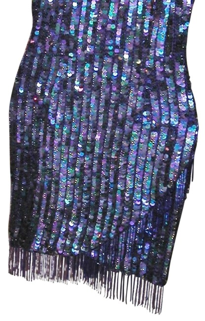 Just Female Sequin Fringe Hem Dance Ballroom Party Dress Image 1