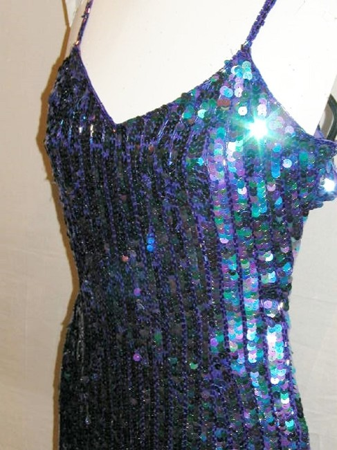Just Female Sequin Fringe Hem Dance Ballroom Party Dress Image 10