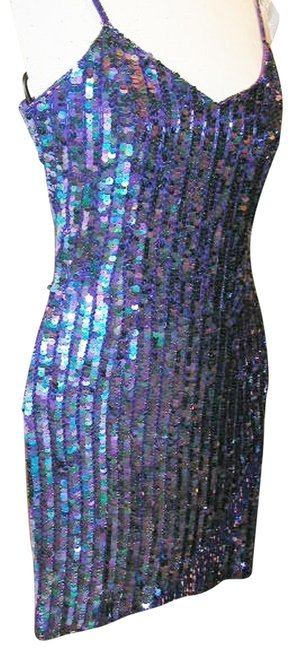 Just Female Sequin Fringe Hem Dance Ballroom Party Dress Image 3