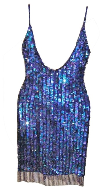 Just Female Sequin Fringe Hem Dance Ballroom Party Dress Image 4