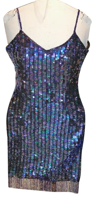 Just Female Sequin Fringe Hem Dance Ballroom Party Dress Image 5