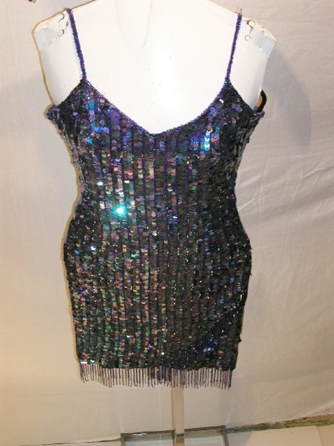 Just Female Sequin Fringe Hem Dance Ballroom Party Dress Image 7