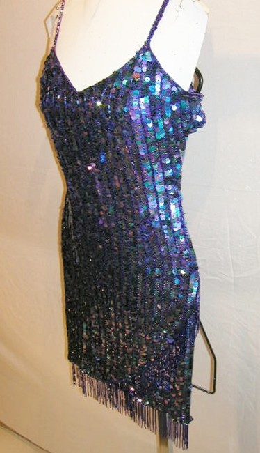 Just Female Sequin Fringe Hem Dance Ballroom Party Dress Image 8