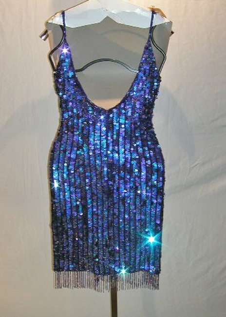 Just Female Sequin Fringe Hem Dance Ballroom Party Dress Image 9