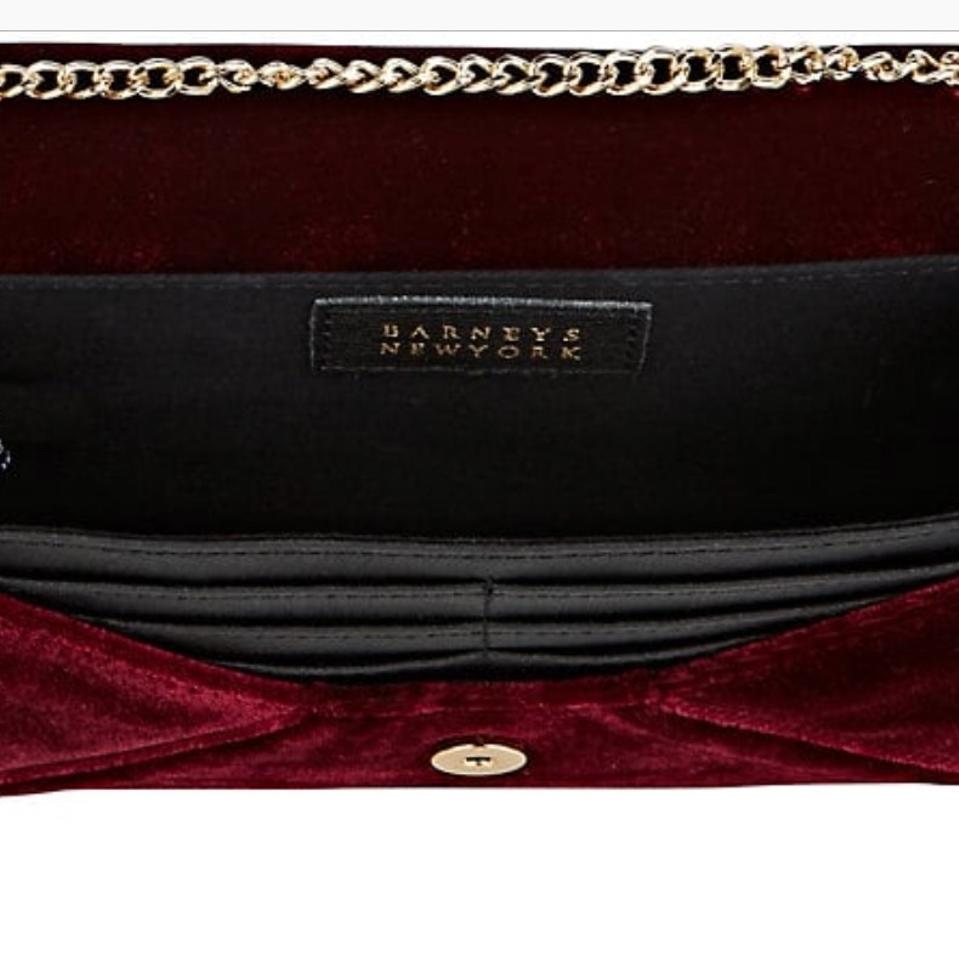 1073c923c8ae Barneys New York Burgundy Hannah Chain Wallet - Tradesy