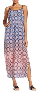 Blue & Peach Maxi Dress by Vince Camuto