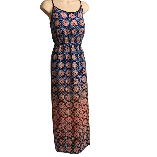 Blue & Peach Maxi Dress by Vince Camuto Image 1