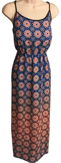 Blue & Peach Maxi Dress by Vince Camuto Image 2
