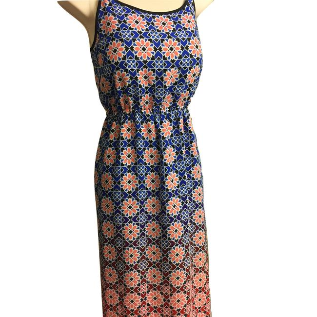 Blue & Peach Maxi Dress by Vince Camuto Image 4