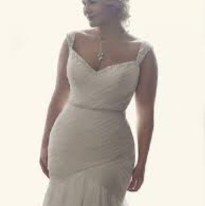 Casablanca Silver Blush with Ivory 2234 Freesia Traditional Wedding Dress Size 18 (XL, Plus 0x)