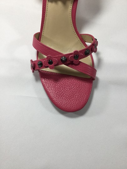Coach Imported Casual Floral Ankle Strap Pink Wedges Image 3