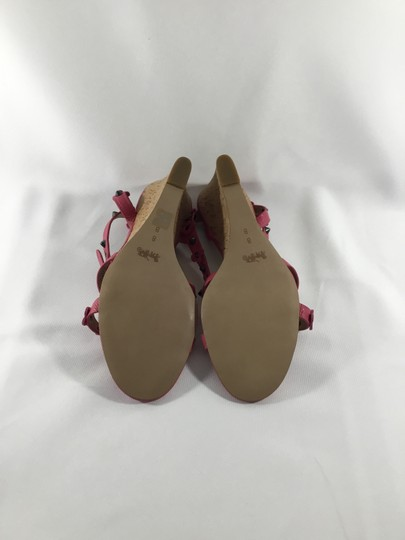 Coach Imported Casual Floral Ankle Strap Pink Wedges Image 5