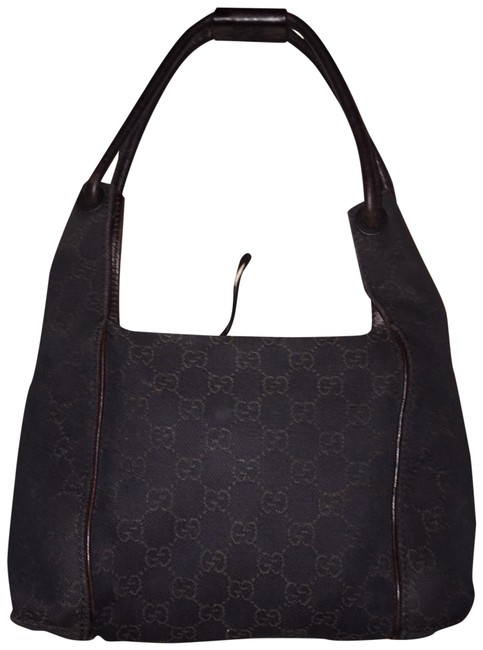 Gucci Vintage Signature with Dust Brown Satchel Gucci Vintage Signature with Dust Brown Satchel Image 1